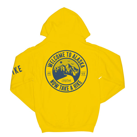 Take A Hike Yellow Hoodie