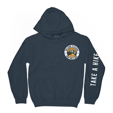 Take A Hike Navy Blue Hoodie