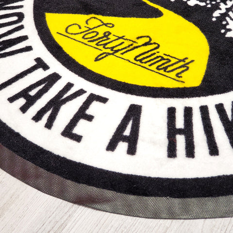 Take A Hike Round Floor Mat