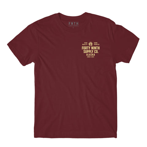 Winter Is Coming Burgundy T-Shirt