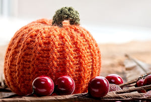 orange knitted pumpkin