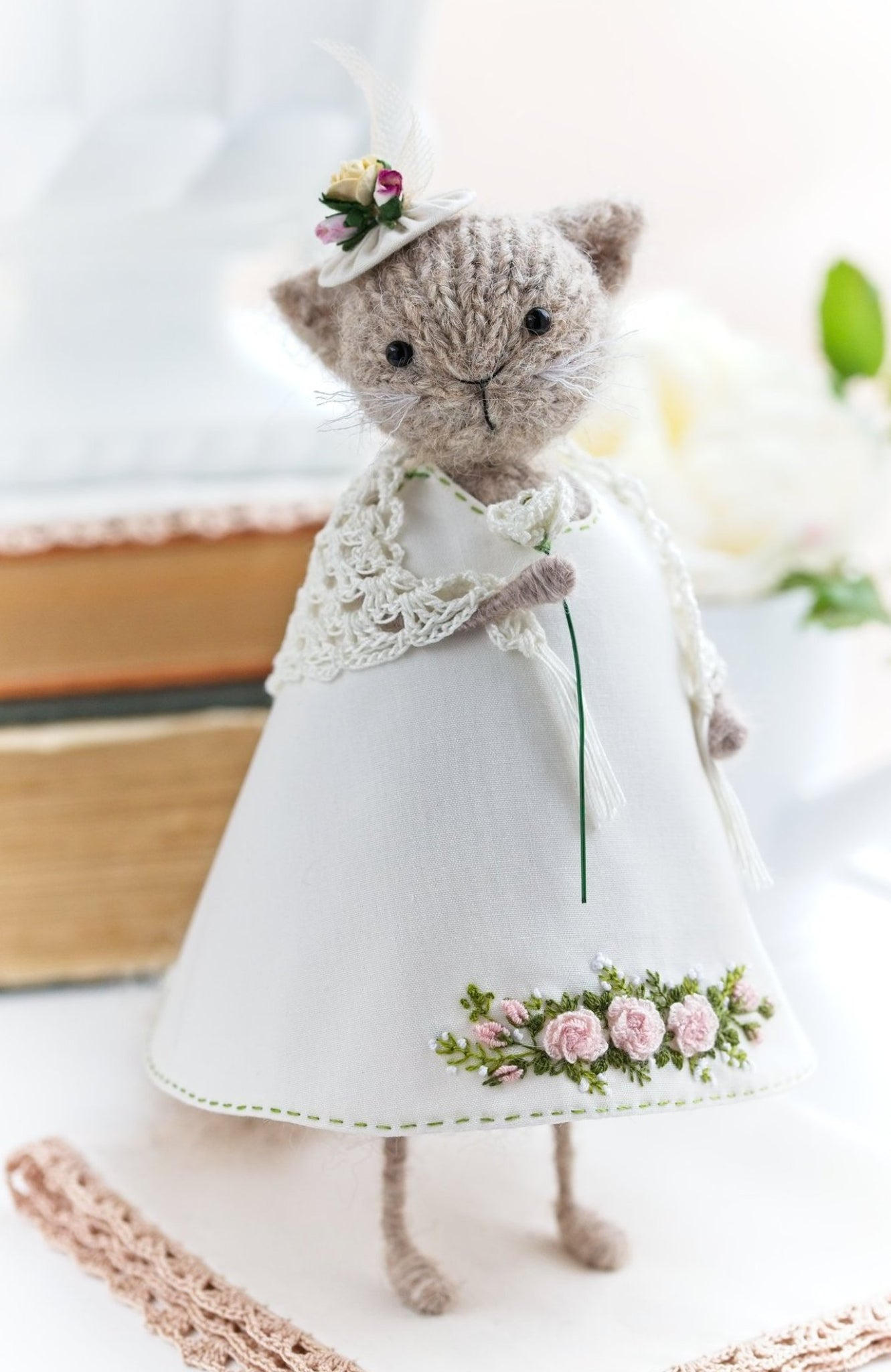 Lady Cat Art Doll