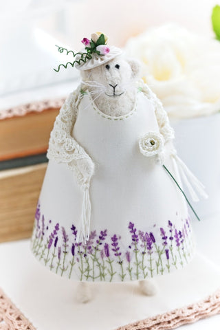 Lady Mouse in a Lavender dress