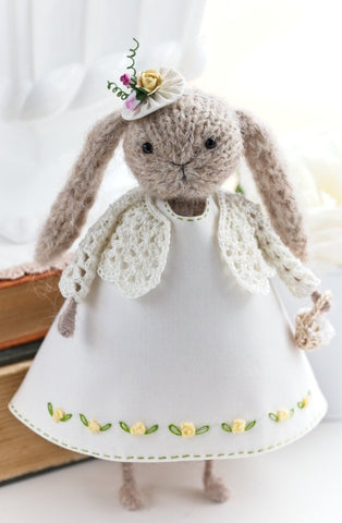 Lady Rabbit in Yellow Roses dress