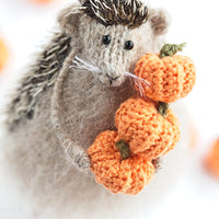 hedgehog autumn fall decor