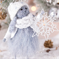 Christmas Rabbit with Snowflake