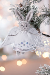 Christmas Angel Rabbit ornament