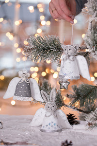 'All is Calm' Gift Set of 3 Angel ornaments