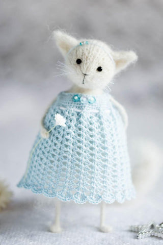 White Cat Art Doll