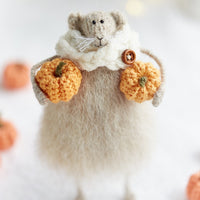 Mouse with a Pumpkin
