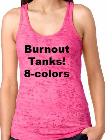 Burnout Racer Back Tank Next Level
