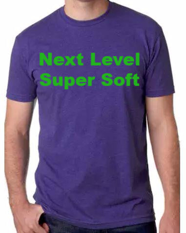 Next Level Tee Shirt CVC combed cotton/poly soft blend