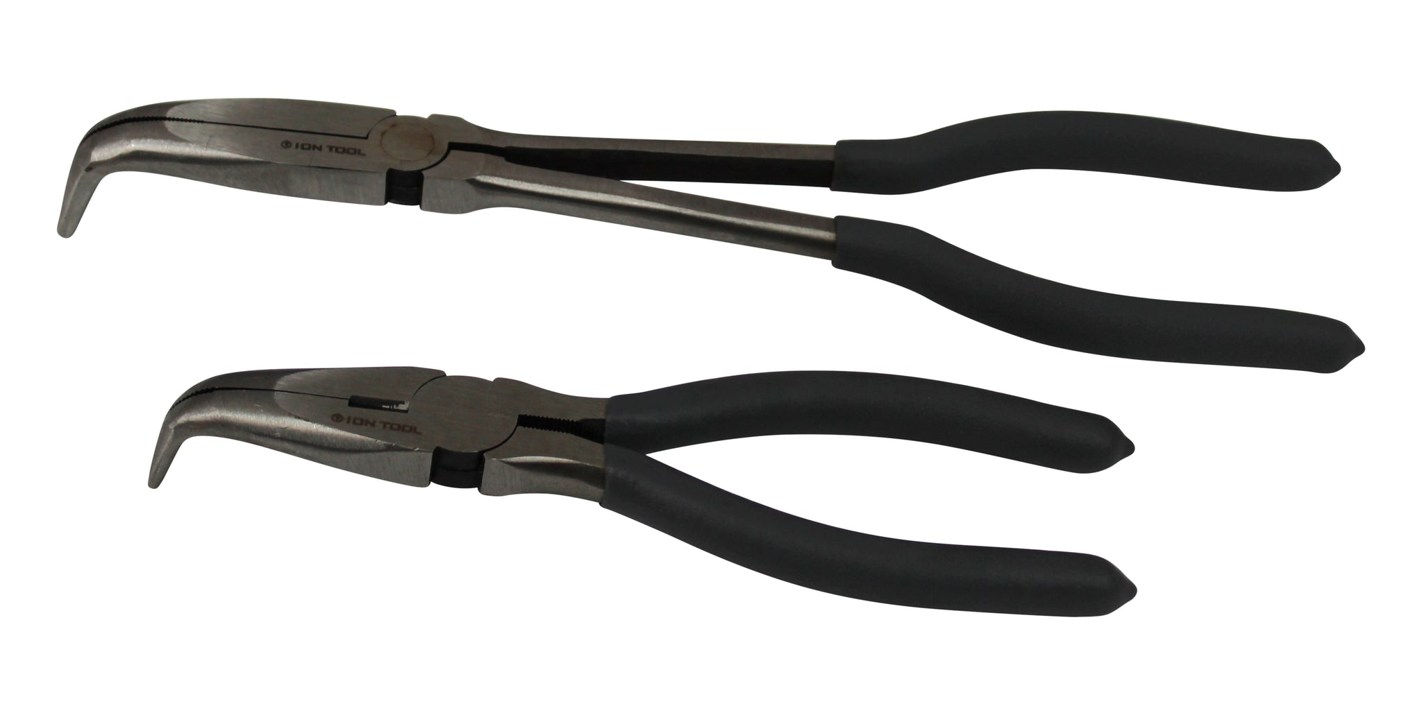 "Angled Long Needle Nose Pliers Set – 11"" & 7"" 90 Degree Bent Nose Pliers, 2 Piece Set"