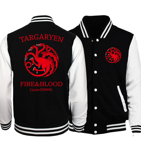 Targaryen Slim-Fit Baseball Jacket