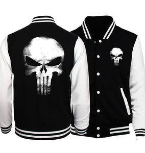 Punisher Slim-Fit Baseball Jacket