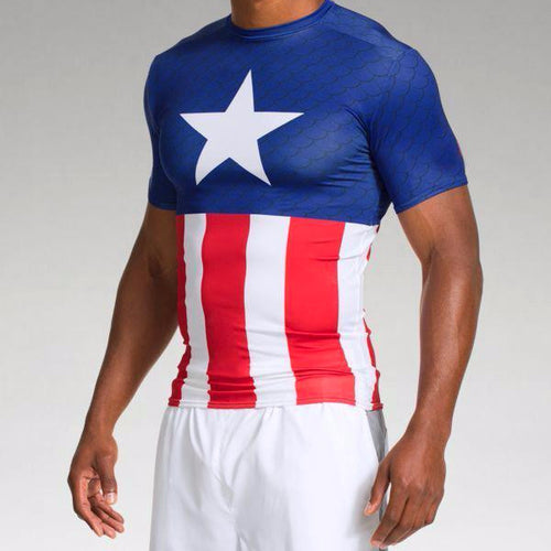 Captain America Classic Short Sleeve Compression Shirt