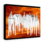 ATLANTA Bold on Fire - Canvas Gallery Wraps
