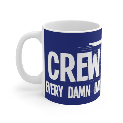 Crew (rowing-blue) - White Ceramic Mug