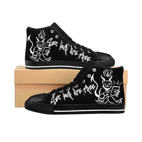 Set Your Life Free Men's High-top Sneakers