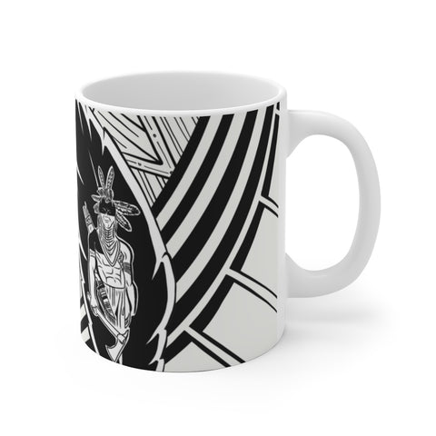 Black Feather - White Ceramic Mug
