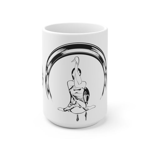 Yoga Zen  - White Ceramic Mug