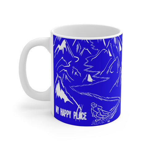 My Happy Place (blue) - White Ceramic Mug