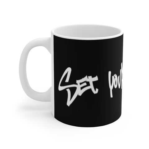 Set Your Life Free - White Ceramic Mug