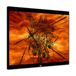 Glass Heart on Fire Canvas Gallery Wraps