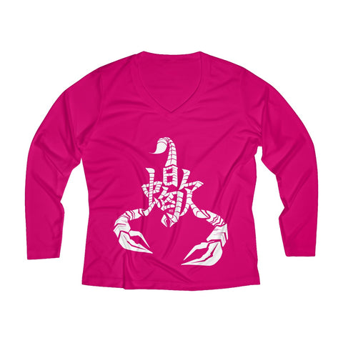 Scorpio Women's Long Sleeve Performance V-neck Tee