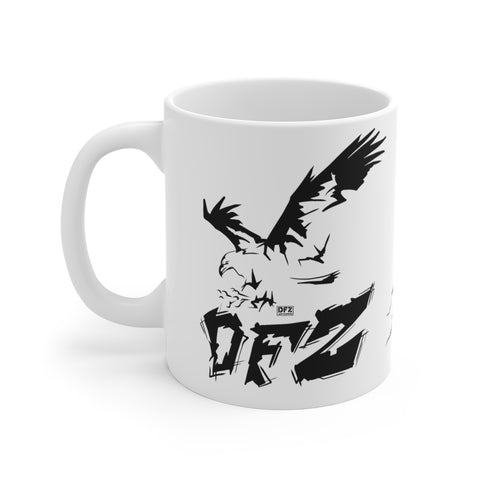 DFZ Eagle w Wolves - White Ceramic Mug