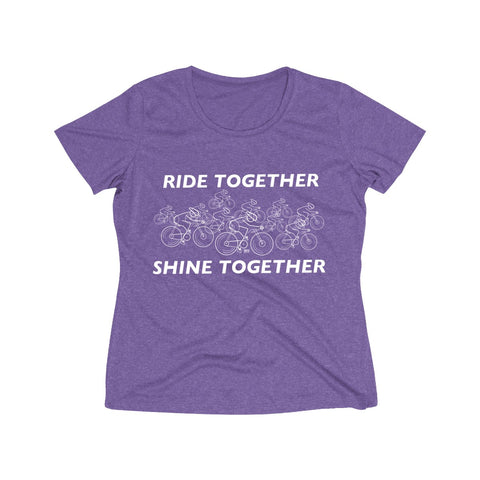 Ride Together Shine Together Women's Heather Wicking Tee