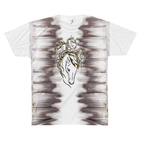 DFZ 4 Horses - All Over Print Women's Tee