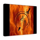 Spartan in Fire Canvas Gallery Wraps
