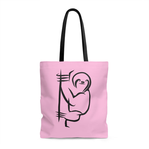 Sloth Love - Pink Tote Bag