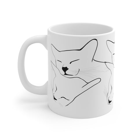Cat Love - White Ceramic Mug