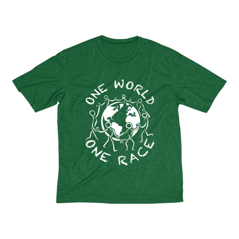One World One Race Men's Heather Dri-Fit Tee