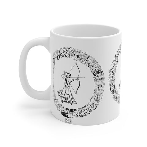 DFZ Archer   - White Ceramic Mug