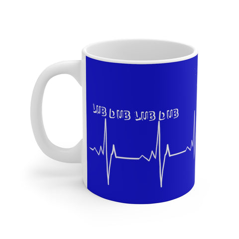 Lifeblood (blue) - White Ceramic Mug