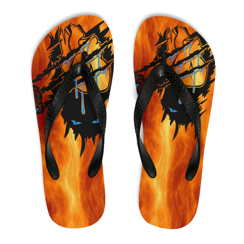 Panther through Fire Unisex Flip-Flops