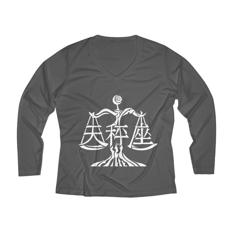Libra Women's Long Sleeve Performance V-neck Tee