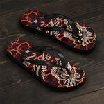 Kanji Dragons at Your Feet (Ver 2.0) Unisex Flip-Flops