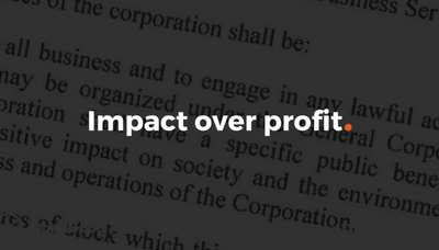 Impact Over Profit: The Day We Made it Official