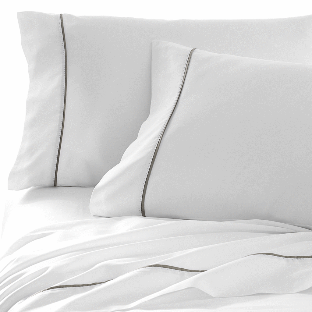 Organic, fair trade, sustainably-sourced Italian Hemstitch sheets and pillow cases from Under the Canopy