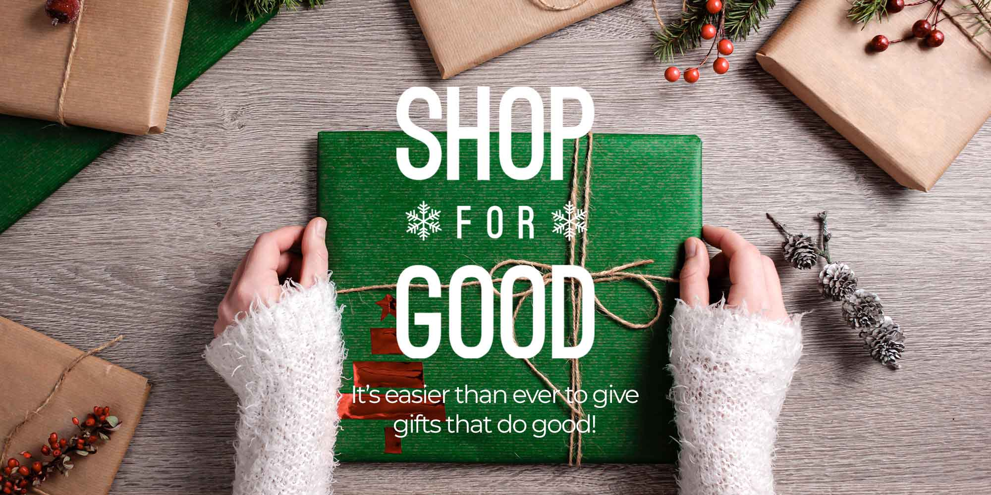 Use your holiday shopping for good.