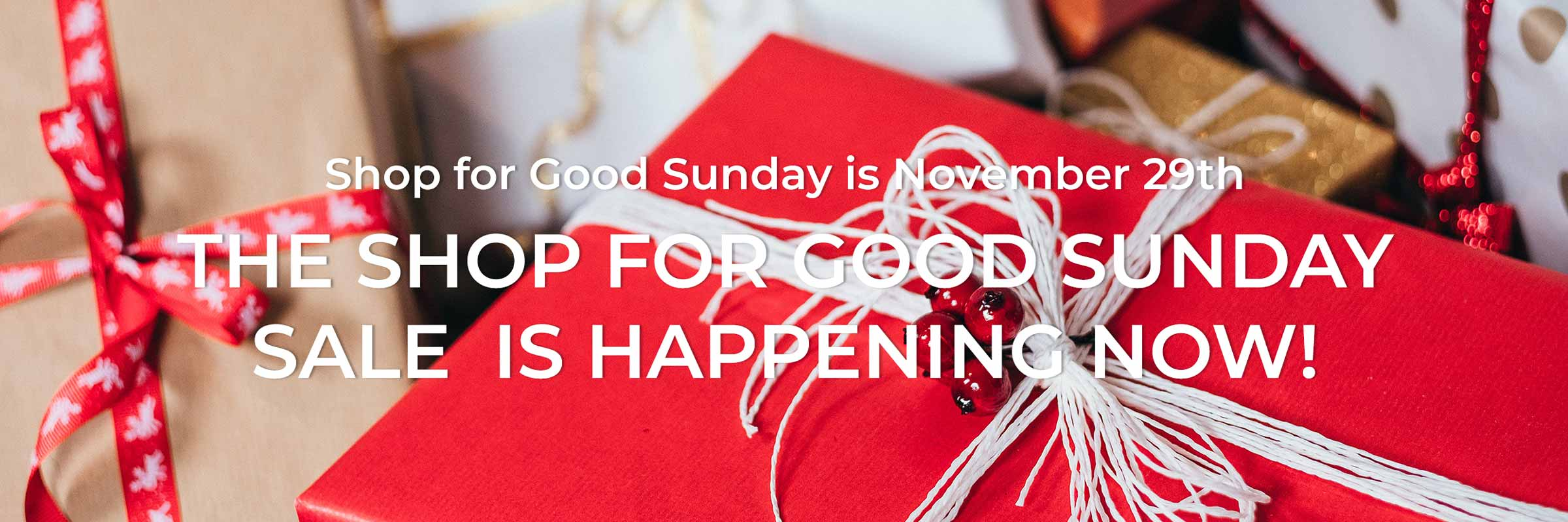 Shop for Good Sunday is November 29th. Use your holiday shopping for good.