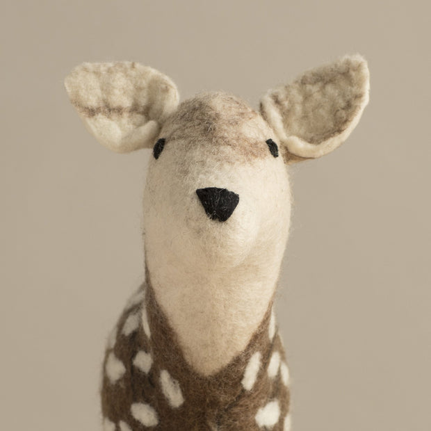 Hand Felted Small Deer