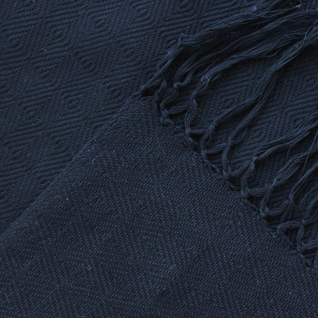 Soft & Neutral Shawl | Black on Black Diamond Weave