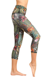 Green Thumb Printed Yoga Crops