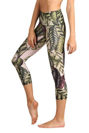 Leaf it to Me Printed Yoga Crops