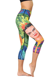 Frida Printed Yoga Crops
